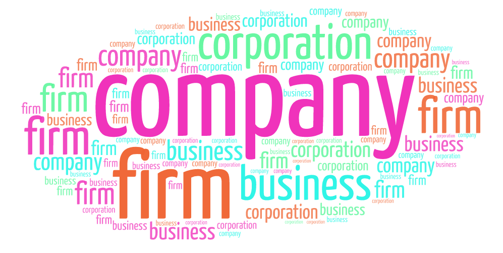 Diferencia entre company, firm, corporation y business.