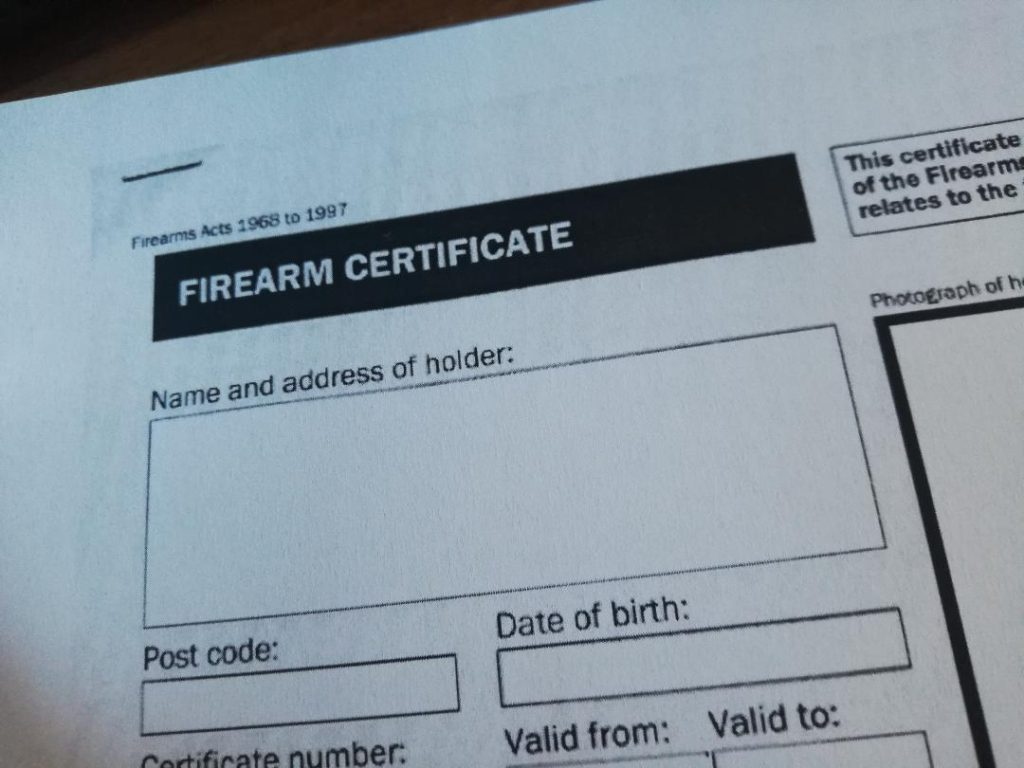 Sworn translation of firearm certificate into Spanish. Sworn Spanish translator.